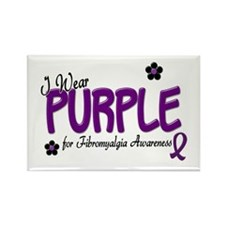 I Wear Purple 14 (Fibro Awareness) Rectangle Magne