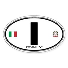 Italy Euro Oval Oval Decal