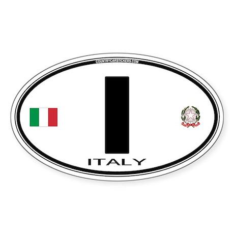 Italy Euro Oval Oval Sticker