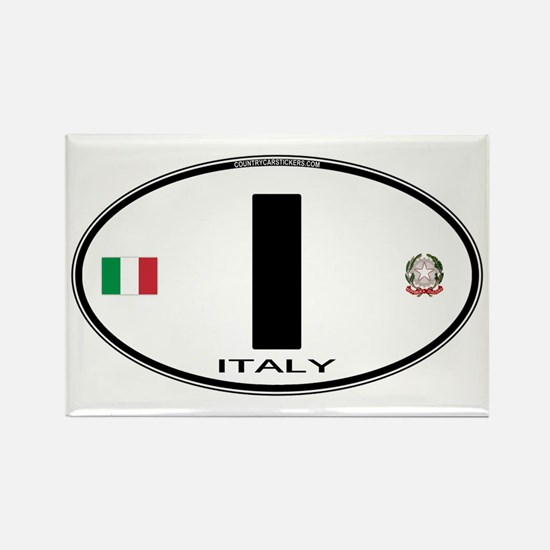 Italy Euro Oval Rectangle Magnet