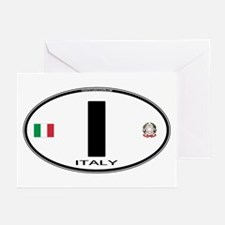 Italy Euro Oval Greeting Cards (Pk of 10)