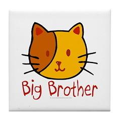 Cat Big Brother Tile Coaster