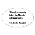 MacArthur Opportunity Quote Oval Sticker (10 pk)