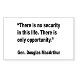 MacArthur Opportunity Quote Rectangle Sticker 10