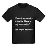 MacArthur Opportunity Quote (Front) Kids Dark T-Sh