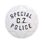Canal Zone Police Ornament (Round)
