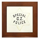 Canal Zone Police Framed Tile