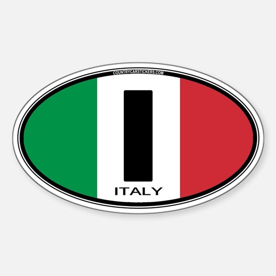 Italy Oval Colors Oval Decal