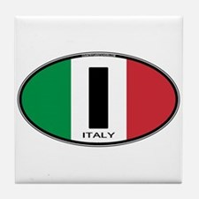 Italy Oval Colors Tile Coaster