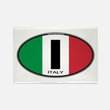 Italy Oval Colors Rectangle Magnet (10 pack)