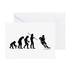 Hockey Evolution Greeting Cards (Pk of 20)