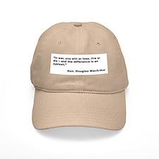 MacArthur Live or Die Quote Baseball Baseball Cap