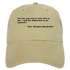 MacArthur Live or Die Quote Baseball Cap