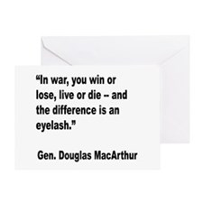 MacArthur Live or Die Quote Greeting Card