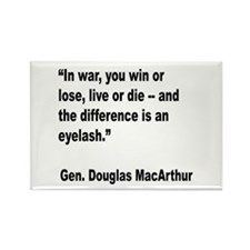 MacArthur Live or Die Quote Rectangle Magnet
