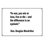 MacArthur Live or Die Quote Banner