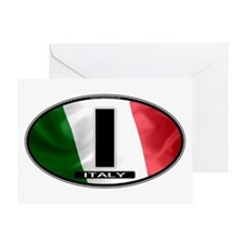 Italy Oval Colors 2 Greeting Card