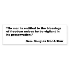 MacArthur Freedom Blessings Quote Bumper Bumper Sticker