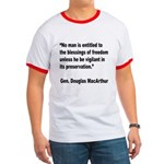 MacArthur Freedom Blessings Quote Ringer T
