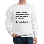 MacArthur Freedom Blessings Quote (Front) Sweatshi