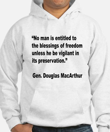 MacArthur Freedom Blessings Quote Hoodie