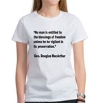 MacArthur Freedom Blessings Quote Women's T-Shirt