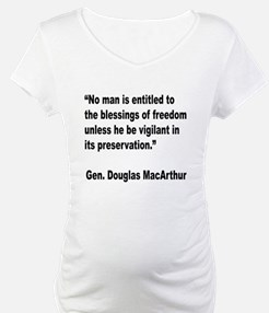MacArthur Freedom Blessings Quote Shirt
