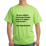 MacArthur Freedom Blessings Quote (Front) Green T-