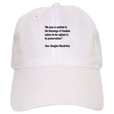 MacArthur Freedom Blessings Quote Baseball Cap
