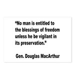 MacArthur Freedom Blessings Quote Postcards (Packa