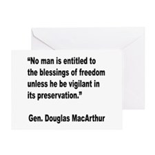 MacArthur Freedom Blessings Quote Greeting Card