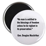 MacArthur Freedom Blessings Quote Magnet
