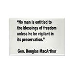 MacArthur Freedom Blessings Quote Rectangle Magnet