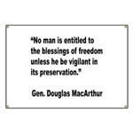 MacArthur Freedom Blessings Quote Banner