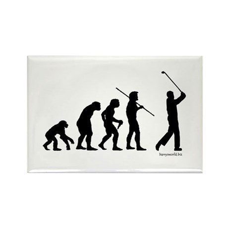 Golf Evolution Rectangle Magnet (10 pack)