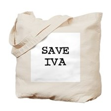 Save Iva Tote Bag
