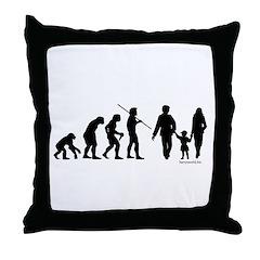 Family Evolution Throw Pillow
