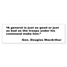 MacArthur General and Troops Quote Bumper Sticker