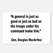 MacArthur General and Troops Quote Postcards (Pack