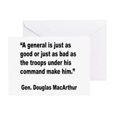 MacArthur General and Troops Quote Greeting Card