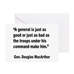 MacArthur General and Troops Quote Greeting Cards