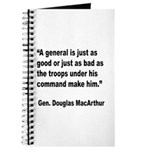 MacArthur General and Troops Quote Journal