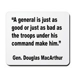 MacArthur General and Troops Quote Mousepad