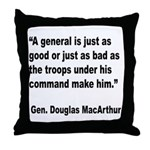 MacArthur General and Troops Quote Throw Pillow