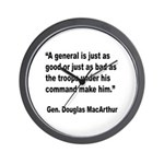 MacArthur General and Troops Quote Wall Clock