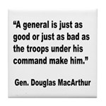MacArthur General and Troops Quote Tile Coaster