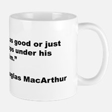 MacArthur General and Troops Quote Mug