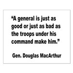 MacArthur General and Troops Quote Small Poster