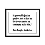 MacArthur General and Troops Quote Framed Panel Pr