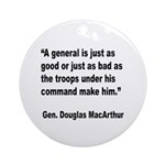 MacArthur General and Troops Quote Ornament (Round